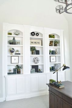 Hey friends, Here is a home tour with all my sources and paint colors as well as links to many of the products I have in my home! Hope you enjoy! House Exterior I have always loved the look of whit… Bookcase Styling, Interior Minimalista, Interior Decorating, Interior Design, Decorating Ideas, Decor Ideas, Room Ideas, Built In Shelves, Built Ins