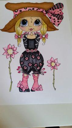 Bestie colored with spectrum noir markers by Janneke