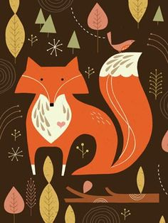 Fox is a limited edition giclee print of an original illustration by Tracy Walker. The edition is limited to 100 prints, printed on Fuchs Illustration, Woodland Illustration, Fox Art, Stretched Canvas Prints, Cool Artwork, Paper Cutting, Giclee Print, Art Prints, Animal Prints