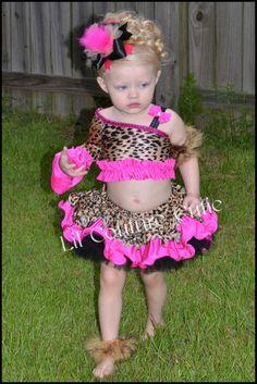 Glitz Leopard Pageant Wear / Animal Safari by LilCoutureCutie, $65.00