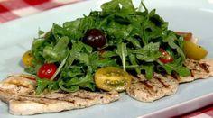 Mario Batali's Swordfish Paillard with Arugula and Tomatoes