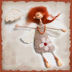 Купить Благуша - феечка, ангелочек, душевный подарок, душевные вещи, оранжевое настроение, Рыжая