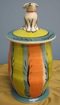 ceramic cookie jar Ceramic Cookie Jar, Cookie Jars, Cookie Containers, Bird Cookies, Biscuit Cookies, Vintage Cookies, Auction Items, Ceramic Decor, Dog Treats