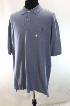 NEW Polo Ralph Lauren Shirt Mens 2XB Blue BIG 2XL Short Sleeve  NWOT #PoloRalphLauren #PoloRugby