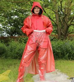 Plastic pvc and boots from pvc and raincoat fetish Plastic Raincoat, Yellow Raincoat, Hooded Raincoat, Black Rain Jacket, Rain Jacket Women, Raincoats For Women, Jackets For Women, Mudding Girls, Boots