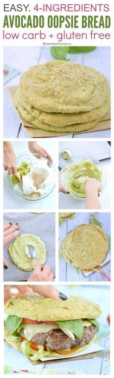 Dairy free keto oopsie bread with avocado     Easy keto recipes