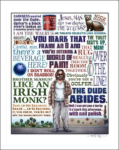 Coen Brothers Films Quote Posters - Design - ShortList Magazine - The Big Lebowski