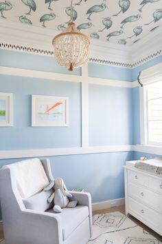 Sweet Blue San Francisco Nursery - Style Me Pretty Living