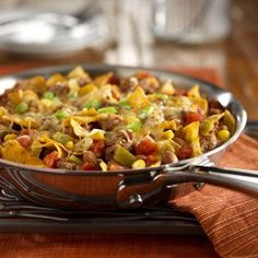 All the delicious flavors of a taco  in a quick and easy skillet preparation - I know what I am making for supper tonight!