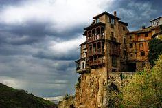 Hanging houses of Cuenca by Juan M. Collado