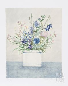 Blue and White Cup Limited Edition by Mary Faulconer at Art.com