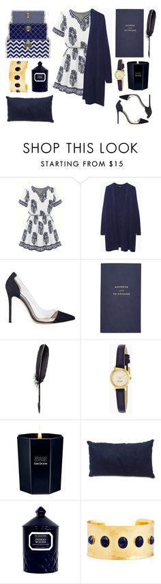 """#18"" by yasyami ❤ liked on Polyvore featuring Zucca, Gianvito Rossi, Smythson, Maison Margiela, Kate Spade, Tom Daxon, Dot & Bo, The Collection, Evelyn Knight and Three Hands"