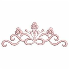 Ace Points Embroidery Design: Floral Heirloom Border 1.68 inches H x 4.41 inches W