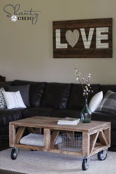 The sign above the couch