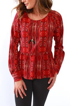 Sanctuary, Organic Boho Scarf Blouse from Viva Diva Boutique