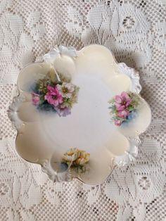 Antique RS Prussia Porcelain Plate Antique by VintageChinaShoppe