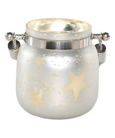 Look what I found on #zulily! Small White Mercury Glass Star Jar with Lights #zulilyfinds