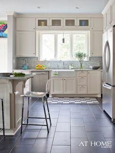 Slate Floors, Light Cabinetry