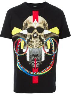 Marcelo Burlon County Of Milan 'Batavia' T-shirt Skull Print, Milan, Shirt Designs, Short Sleeves, Tees, Mens Tops, T Shirt, Clothes, Outfits