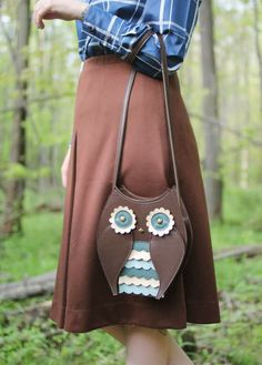 The Dainty Squid: owl bag by Titina Owl Purse, Owl Bags, Devil Wears Prada, Vintage Owl, Cute Owl, Kids Bags, Stylish Girl, What I Wore, Leather Purses