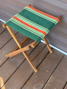 Camping Stool, Camping Furniture, Camping Chairs, Outdoor Furniture, Vintage Cabin, Vintage Wood, Vintage Decor, Mountain Cabin Decor, Accent Pieces