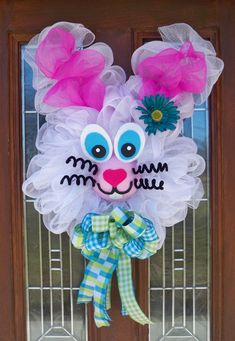 Mesh Easter Bunny by JenniferzWreaths on Etsy