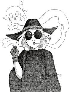 Inktober 5 - Socielite Witch by morganadulac.deviantart.com on @DeviantArt