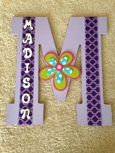 Custom purple baby girl letter - name room decor : Madison on Etsy, $15.00
