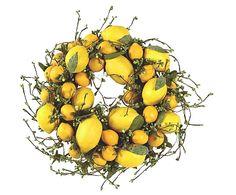 Lemon Kitchen Decor Create A Delicious Lemony Decor With Our Luscious Lemon Wreath A