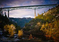 The Foresthill Bridge - the tallest bridge in California! #Auburn #California
