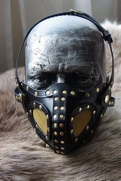 Leather Respirator Style Mask with Mesh Inserts by JacklynHyde Leather Mask, Leather Tooling, Activated Charcoal Face Mask, A Darker Shade Of Magic, Mouth Mask Fashion, Steampunk Mask, Skull Mask, Cafe Racer Motorcycle, Leather Pattern