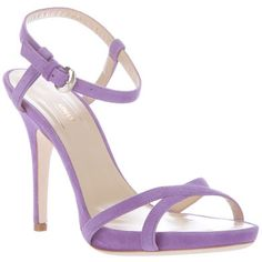Armani lavender heels yes to color and style. Shorter heel would be nice