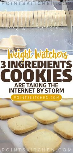 These brilliant cookies are taking the internet by storm: 3 ingredients and ready in no time dessert cookies weightwatchers weight_watchers lowcarb slimmingworld ketogenic Weight Watcher Desserts, Weight Watchers Snacks, Weight Watcher Cookies, Weight Watchers Sugar Cookie Recipe, Ww Sugar Cookie Recipe, Diabetic Weight Watchers, Weight Watchers Brownies, Healthy Recipes, Easy Cookie Recipes