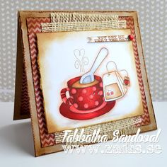 Funky Tea Love #thezadisproject #cardmaking #whimsiedoodles