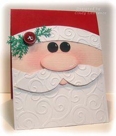 Santa Christmas Card http://www.hobbycraft.co.uk/papercraft/christmas-papercraft