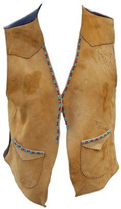 1960s Large Vest Beaded Navaho Native American by TopangaHiddenT