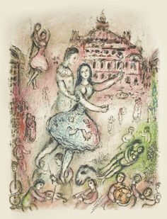MARC CHAGALL 1887 - 1985 THE OPERA (M. 715) Lithograph printed in colours, 1974…