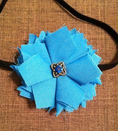 Beautiful blue elastic headband by Sparklepretty1 on Etsy