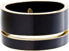 MANGO Bracelet Noir - Polyvore