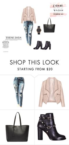 """""""Untitled #2"""" by elma-kikic ❤ liked on Polyvore featuring Zizzi, Yves Saint Laurent, Valentino and Marc Jacobs"""