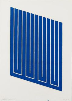 untitled - one plate, blue - 1968-69 - donald judd