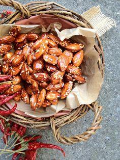 Sticky almonds