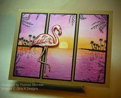 Crafting The Web: Faux Window Flamingo