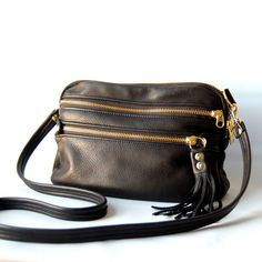 AW13 Leather bag in black by valhallabrooklyn on Etsy $119