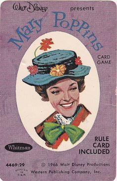 Vintage Whitman Mary Poppins Card Game 1966