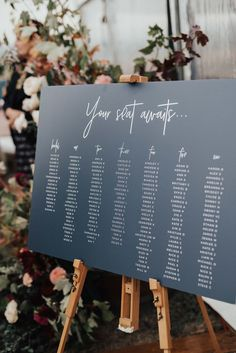 wedding inspo Classic navy seating chart for wedding reception on art easel Lilac Wedding, Our Wedding, Destination Wedding, Wedding Planning, Table Wedding, Marquee Wedding, Wedding Signage, Wedding Stationary, Wedding Invitations