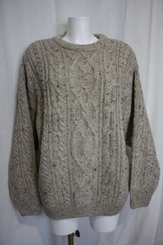 Original IRISH ARANCRAFTS sweater pullover pure by PitzicatVintage, $50.00