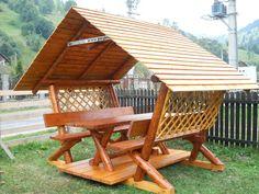 Любишь кататься, люби и - Salvabrani Backyard Playground Sets, Backyard Retreat, Backyard Patio, Gazebo Pergola, Garden Gazebo, Cool Sheds, Bamboo Building, Bamboo Architecture, Canopy Outdoor