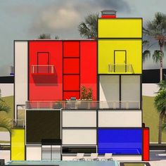 #Mondrian #Design #Movement | Mondrian House © Vasily Klyukin | bauhaus-movement.com