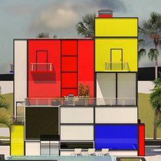 #Mondrian #Design #Movement | Mondrian House © Vasily Klyukin | bauhaus-movement.com